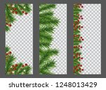 set christmas and new year... | Shutterstock .eps vector #1248013429
