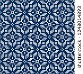 winter sweater fairisle design. ... | Shutterstock .eps vector #1248014893