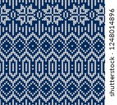 winter sweater fairisle design. ... | Shutterstock .eps vector #1248014896