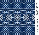 winter sweater fairisle design. ... | Shutterstock .eps vector #1248014920