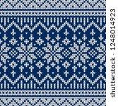 winter sweater fairisle design. ... | Shutterstock .eps vector #1248014923