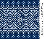 winter sweater fairisle design. ... | Shutterstock .eps vector #1248014926