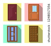 vector illustration of door and ...   Shutterstock .eps vector #1248017356