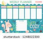weekly planner and to do list... | Shutterstock .eps vector #1248022300
