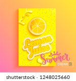 fresh lemon juice banner with... | Shutterstock .eps vector #1248025660