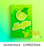 fresh mojito banner  lime juice ... | Shutterstock .eps vector #1248025666