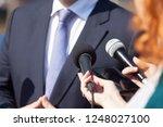journalists making media... | Shutterstock . vector #1248027100