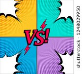 comic duel and fight concept...   Shutterstock .eps vector #1248029950