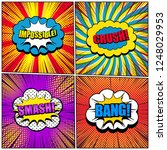 comic book pages colorful... | Shutterstock .eps vector #1248029953