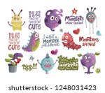 cute cartoon vector monster... | Shutterstock .eps vector #1248031423