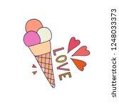 love ice cream illustration.... | Shutterstock .eps vector #1248033373