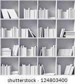 White Bookshelves   Illustrated ...