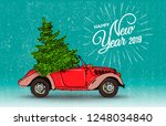happy new year postcard or... | Shutterstock .eps vector #1248034840