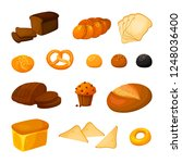 set of different kinds of... | Shutterstock . vector #1248036400