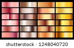 gold rose  bronze  silver and... | Shutterstock .eps vector #1248040720