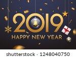 2019 new year shining...   Shutterstock .eps vector #1248040750