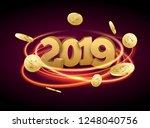 luxury christmas 2019... | Shutterstock .eps vector #1248040756