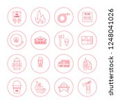 vector fire safety icon set in... | Shutterstock .eps vector #1248041026