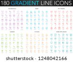 180 trendy gradient vector thin ... | Shutterstock .eps vector #1248042166