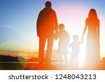 silhouette family  including... | Shutterstock . vector #1248043213