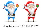 set of santa claus in the red... | Shutterstock .eps vector #1248044329