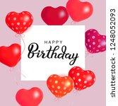 hearts air balloons. holiday...   Shutterstock . vector #1248052093