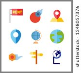 9 geography icon. vector... | Shutterstock .eps vector #1248057376