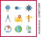 9 geography icon. vector... | Shutterstock .eps vector #1248071089