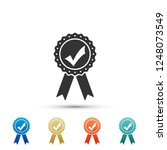 approved or certified medal... | Shutterstock . vector #1248073549