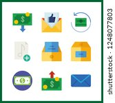 9 send icon. vector... | Shutterstock .eps vector #1248077803