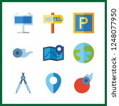 9 geography icon. vector... | Shutterstock .eps vector #1248077950