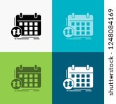 schedule  classes  timetable ... | Shutterstock .eps vector #1248084169