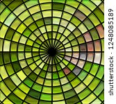 abstract vector stained glass... | Shutterstock .eps vector #1248085189