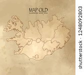 old iceland map with vintage... | Shutterstock .eps vector #1248092803