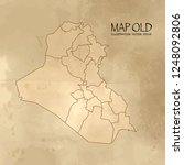 old iraq map with vintage paper ... | Shutterstock .eps vector #1248092806