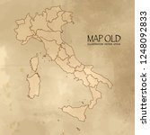 old italy map with vintage... | Shutterstock .eps vector #1248092833