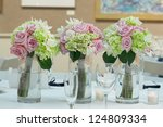 Wedding Bouquets On Table At...
