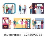 people at trade expo. men and... | Shutterstock .eps vector #1248093736