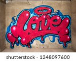 awesome graffiti of the word... | Shutterstock . vector #1248097600