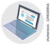 open modern laptop browser... | Shutterstock .eps vector #1248100816