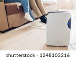 dehumidifier with touch panel ... | Shutterstock . vector #1248103216