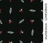 boho garden leaves stripes all...   Shutterstock .eps vector #1248108643