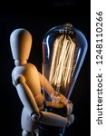 wooden articulated artist doll... | Shutterstock . vector #1248110266
