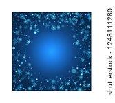 christmas blizzard. snowfall... | Shutterstock .eps vector #1248111280