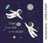 space love vector illustration. ... | Shutterstock .eps vector #1248115069