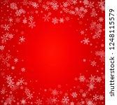 christmas blizzard. snowfall... | Shutterstock .eps vector #1248115579