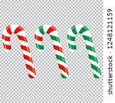 set of red and green candy... | Shutterstock .eps vector #1248121159