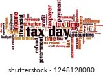 tax day word cloud concept.... | Shutterstock .eps vector #1248128080