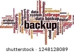 backup word cloud concept.... | Shutterstock .eps vector #1248128089