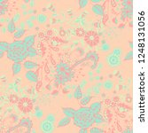 seamless pattern with small... | Shutterstock .eps vector #1248131056
